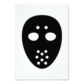 """Máscara del hockey invitación 3.5"""" x 5"""""""