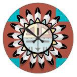 Máscara del Hopi del arte abstracto del nativo ame Reloj De Pared