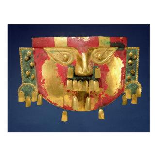 Máscara del inca postal
