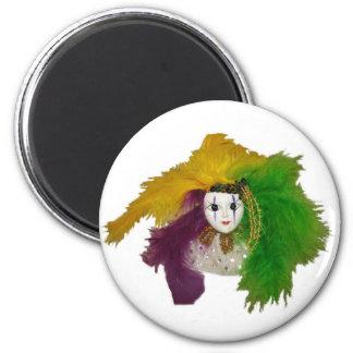 Máscara del indio del carnaval iman de nevera