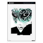 Máscara del instinto de la astilla en verde pegatinas skins para iPad 3
