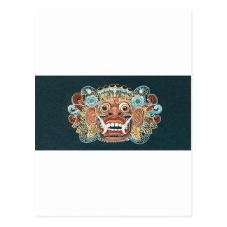 máscara del kumbakarna tarjeta postal