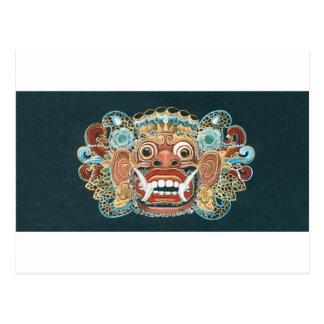 máscara del kumbakarna tarjetas postales