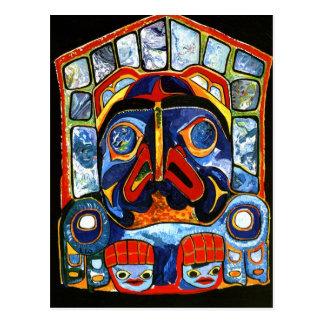 Máscara del nativo americano tarjetas postales
