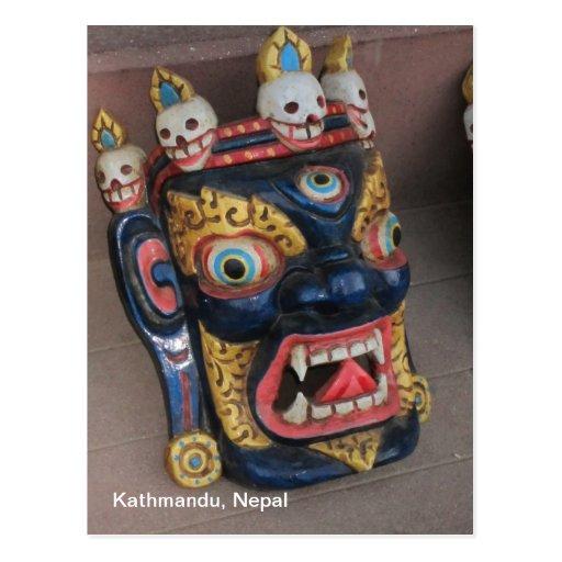 Máscara del Nepali Tarjetas Postales