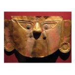 Máscara del oro del inca, Lima, Perú Postal