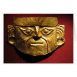 Máscara del oro del inca, Lima, Perú Tarjeta De Felicitación