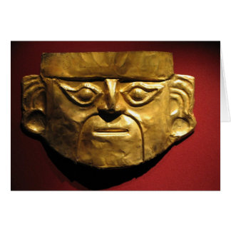 Máscara del oro del inca, Lima, Perú Tarjeta