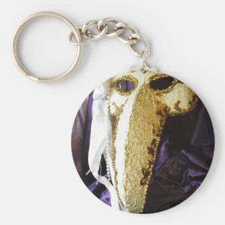 Máscara del pájaro llavero redondo tipo pin