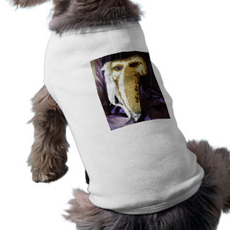 Máscara del pájaro camisetas de perro