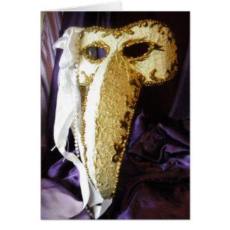 Máscara del pájaro tarjeta