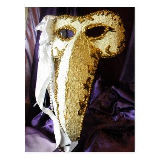 Máscara del pájaro postal