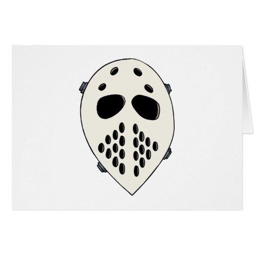 Máscara del portero de la escuela vieja tarjetas