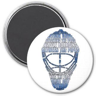 Máscara del portero del hockey imanes