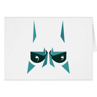 máscara del superhéroe tarjeta de felicitación