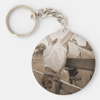 máscara del tábano sobre sepia de la cerca llaveros