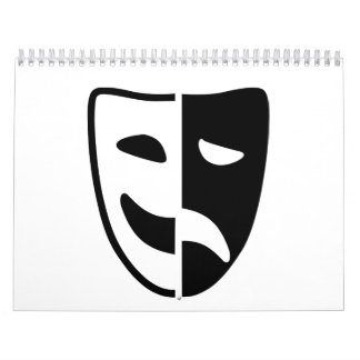 Máscara del teatro calendarios de pared