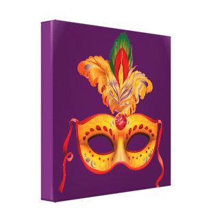 Máscara del teatro de la púrpura real y del impresiones de lienzo