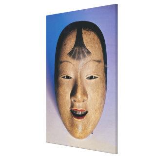 Máscara del teatro de Noh de un muchacho joven lla Impresiones En Lona