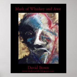 Máscara del whisky y del temor (imagen de alta cal posters