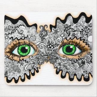Máscara diseñada floral alfombrillas de raton