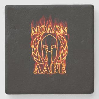 Máscara espartano caliente del guerrero de Molon Posavasos De Piedra