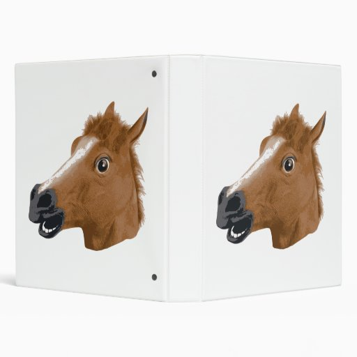 Máscara espeluznante de la cabeza de caballo