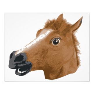 Máscara espeluznante de la cabeza de caballo tarjetas informativas