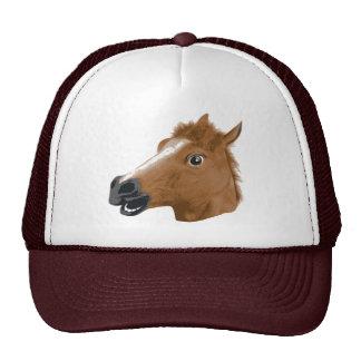 Máscara espeluznante de la cabeza de caballo gorra