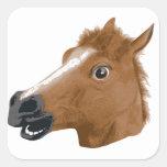 Máscara espeluznante de la cabeza de caballo colcomania cuadrada
