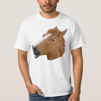 Máscara espeluznante de la cabeza de caballo remera
