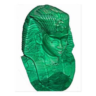 Máscara faraónica del alabastro verde tarjetas postales