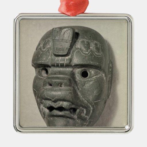 Máscara felina de un hombre, de Oaxaca, Ornamento Para Arbol De Navidad