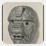 Máscara felina de un hombre, de Oaxaca, Colcomania Cuadrada