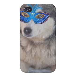 Máscara fornida del carnaval de los ojos azules de iPhone 4 funda