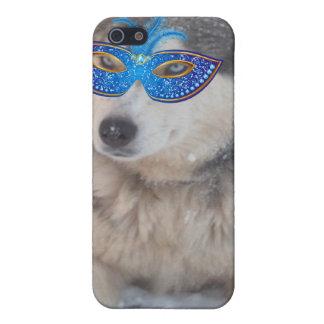 Máscara fornida del carnaval de los ojos azules de iPhone 5 funda
