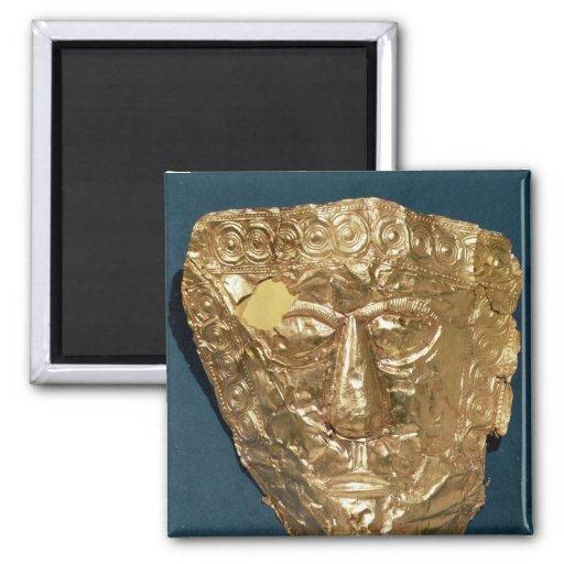 Máscara funeraria imanes de nevera