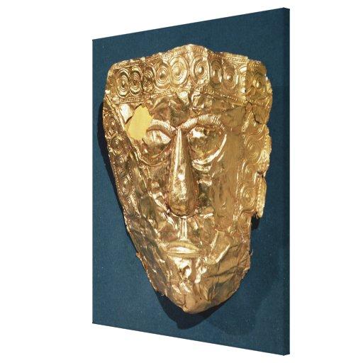 Máscara funeraria impresiones en lona