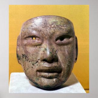 Máscara funeraria, Olmec, de México Póster