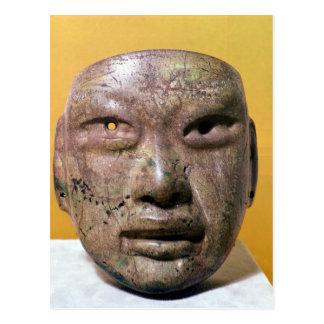 Máscara funeraria Olmec de México Tarjeta Postal