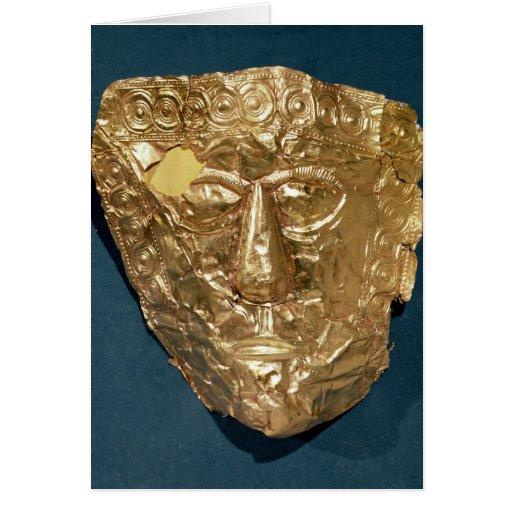 Máscara funeraria tarjeton