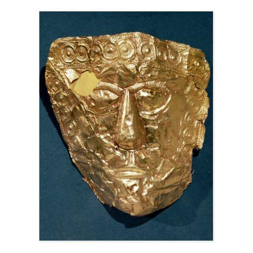 Máscara funeraria postales