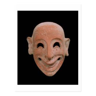 Máscara grotesca, de Motya, siglo VI A.C. (terrac Postal