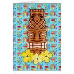Máscara hawaiana de Tiki Felicitación
