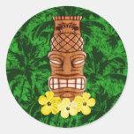 Máscara hawaiana de Tiki Pegatinas Redondas