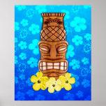 Máscara hawaiana de Tiki Póster