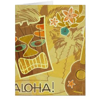 Máscara hawaiana de Tiki Tarjeta De Felicitación Grande