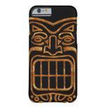 Máscara hawaiana fresca de Tiki Funda De iPhone 6 Barely There
