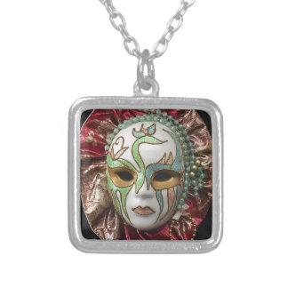 Máscara hermosa del carnaval del chica joyerias
