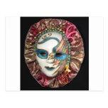 Máscara hermosa del carnaval tarjetas postales